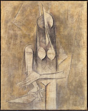 Wifredo Lam, la femme au couteau [Woman using a knife], 1950. Oil on canvas. 126 x 99.5 cm. Lyon, Musée des Beaux-Arts. © Lyon MBA / Photo RMN Ojéda-Le Mage
