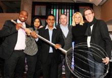 L - R: MasterChef judge Benny Masekwameng, Priya Naidoo (GM Communications Tsogo Sun), Deena Naidoo, Steve Howell (GM Montecasino), Noeleen Bruton (Director of Marketing Tsogo Sun) and Graham Wood (MD Tsogo Sun - Hotels)