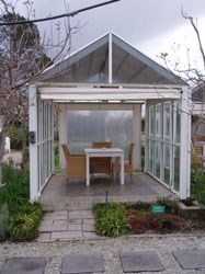"""The little outdoor """"gazebos"""" are great when you want to """"get away from it all """" without getting away from it all."""