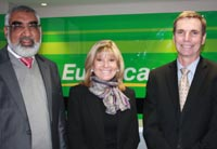Osman Arbee (CEO of the Car Rental and Tourism division of Imperial Holdings), Dawn Nathan-Jones (CEO of Europcar), Hubert Brody (CEO of Imperial Holdings)
