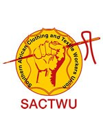 Clothing workers on strike in Newcastle