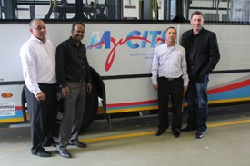 From left to right: Ieghsan Lucas – TransPeninsula Investments, Ghaalid Behardien – TransPeninsula Investments, Andre Erasmus – Kidrogen and Jacques du Preez – Provantage Out of Home Media