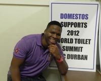 Lloyd Cele works with South African Toilet Organisation