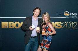Dallas du Toit and Paula Hulley from Gloo at Bookmarks 2012 - Gloo