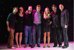 Team Gloo collecting Gold on stage at Loeries 2012 - Gloo