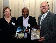 L - R: Dianna Games (Africa at Work), Caswell Rampheri (Buna Group), Lyal White (GIBS)