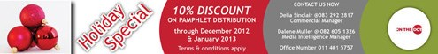 On the Dot festive celebrations... Contact us for 10% discount