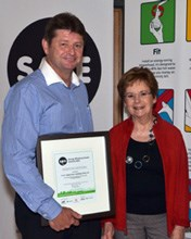 L - R: Colin Devenish - Executive Manager of Operations of the V&A Waterfront and Alderman Belinda Walker - Economic, Environmental & Spatial Planning