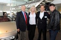 Bernhard Maier, Roger Houghton (motoring journalist), Jessica Baker (Porsche SA), Toby Venter (CEO Porsche SA) and Stuart Johnson (motoring journalist).