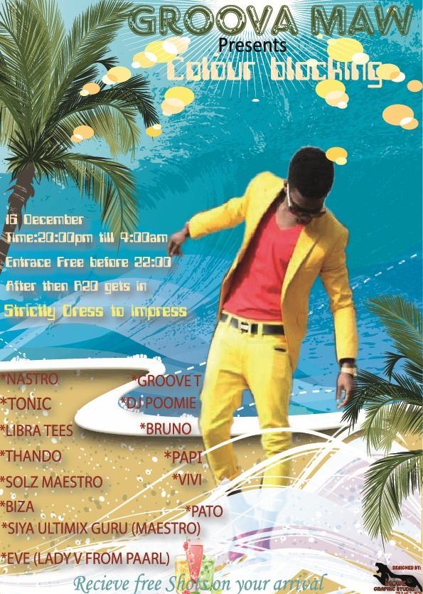 Summer Colour blocking poster