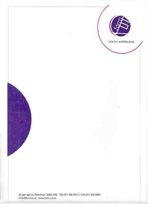 Form Letterhead Front