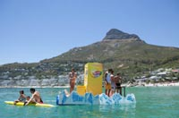 Lipton's floating vending machine attracts bathers