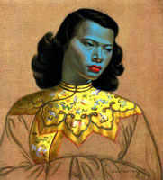 The Chinese Girl, with her blue skin and red lips, is one of the most widely reproduced artworks of the 20th century. (Image: )