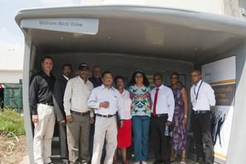 From left: Jacques du Preez – MD, Provantage, Skhumbuzo Nkosi – Director, Provantage, Eric Motshwane – Piotrans/Toic, Mr Pietersen – Director, PTM/Toic, Laurence Maqekoane – Acting MD Metrobus, Brenda Tshabalala – Toic/Chairperson Nanduwe Taxi Association, Rehana Moosajee – MMC Councellor, Nzwana Konco – Chairperson PTM, Maria Raoleka – Member of City of Johannesburg Transport Task Team, Gosiame Montle - Gautrain