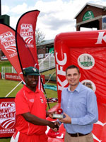 KFC Mini-Cricket coach rewarded for his part in getting kids active
