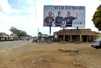 Continental Outdoor Media supports malaria campaign with football stars