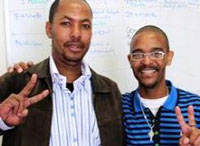 Simphiwe Peter (left) and Welcome Witbooi, two ex-inmates who have joined the training staff of Sonke. (Images: Sonke Gender Justice)