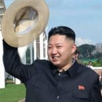 An official North Korean picture proving that Kim Jong-un does indeed not have a piggy snout or piggy ears. (Image: Wikimedia Commons)