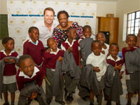 Mark Lifman, Mandisa Monakali and school children from Sokhanyo Primary School.