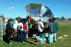 Rotary turn up the heat by donating solar oven to TSiBA Education