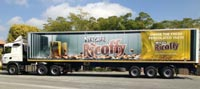 Trucks carry messages across southern Africa
