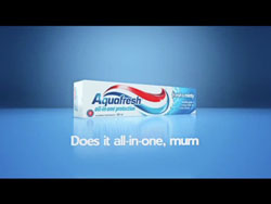 A glass and a half of quirky for Cadbury and a new twist in the Aquafresh tale...