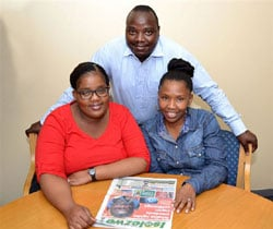 Keen to hear what readers think of their fresh new look are (L-R) Isolezwe deputy editor, Slindile Khanyile, editor Sazi Hadebe and chief sub, Fezeka Novukuza