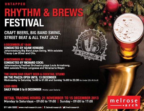 Celebrate untapped rhythms at the Rhythm and Brews festival at Melrose Arch