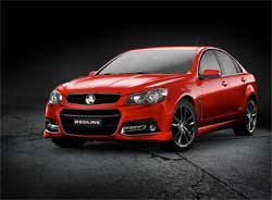 The top-of-the-range and sporty Commodore Redline from Holden. Image: