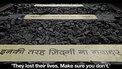 """JWT Mumbai earned the prestigious Grand Midas Award for """"Death Track"""" for client Birla Sun Life Insurance. But South Africa has more than its fair share of train-related deaths, so """"Death Track"""" should strike a chord here as well as in India."""