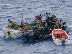 The numberof attacks on ships by pirates fell sharply last year. Image: