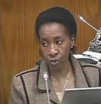 SABC CEO Lulama Mokhobo has resigned, but appears to be unwilling to say why. (Image: SABC)