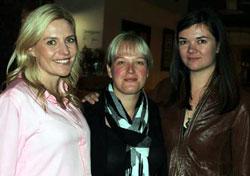 Nikki Cockcroft, Sam Harper, and Kat Scholtz at the Girl Geeks dinner in 2013.