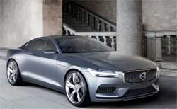 One of Volvo's new concept cars, the coupe, which may be launched in the next few years. Volvo is launching a technology to allow deliveries to cars instead of homes. Image: Volvo