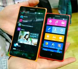 Nokia's Android powered smartphones. Image: