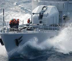 Commandant Birot is playing an important role in preventing piracy. Image: