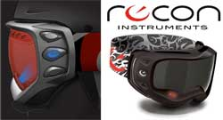 The Recon ski mask provides real-time information to skiers. Image: