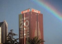 Coca-Cola creates rainbows to celebrate