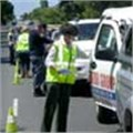 Roadblock cheers motorists