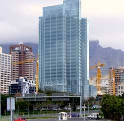 Cape Town's tallest building, Portside, is 32 storeys high and 142m high. Image: