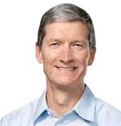 Apple's Tim Cook showed off new operating system software, a new programming language and new software for health applications and for controlling lights and appliances in homes. Image: Apple