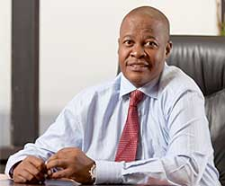Transnet's Brian Molefe is keen to help small- and medium-sized business to build components needed for the Telkom locomotives locally and in Africa. Image: Transnet
