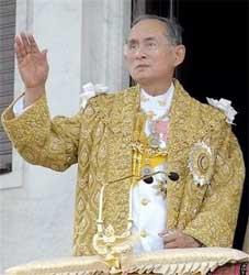 Thailand's King Bhumibol Adulyadej is protected from royal slurs under lese majeste. Image: