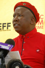 "Julius Malema's EFF claims the SABC's Hlaudi Motsoeneng is a ""liar and a conman"". (Image: EFF website)"