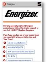 Energiser scores with Mxit