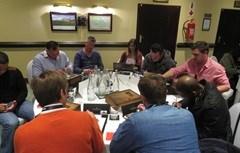 Practical brainstorming session led by Habari Media's Byron John