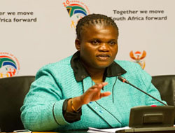 """Communications Minister Faith Mutambi says with regard to Motsoeneng's views on the licencing of journalists, """"For now, there's nothing on my plate like that."""" (Image: GCIS)"""