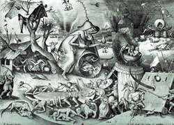 Pieter Bruegel the Elder: The Seven Deadly Sins or the Seven Vices – Wrath. In his day wrath was expressed up close and personal. Nowadays, too often it is expressed very personally - but at a distance... via social media. (Image: Wikimedia Commons)