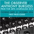 The Observer/Anthony Burgess Prize for Arts Journalism