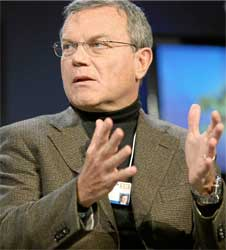 WPP's boss Martin Sorrell earned 800 times more than the average worker, taking home a colossal £29.8m last year. Image: Wikipedia